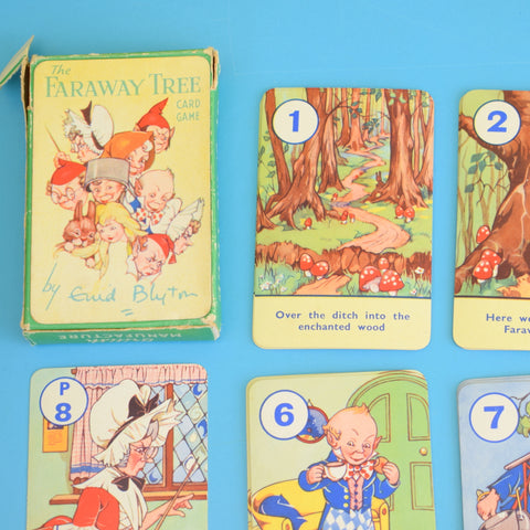 Vintage Rare 1940s The Faraway Tree Playing Card Game - Fantastic Images - Complete