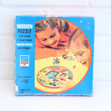 Vintage 1970s Wooden Jigsaw Puzzle - by Simplex Toys - Tom Thumb