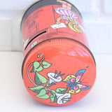 Vintage 1980s Post Box Money Tin - Trebor / Sharps Toffee Sweets