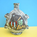 Vintage 1950s Ceramic Bottle / Dish - San Marino - Italian Pottery - Red