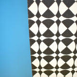Vintage 1960s Op Art Danish Wallpaper - Black & White Design