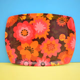 Vintage 1960s Flower Power Thetford Tray - Pink & Orange