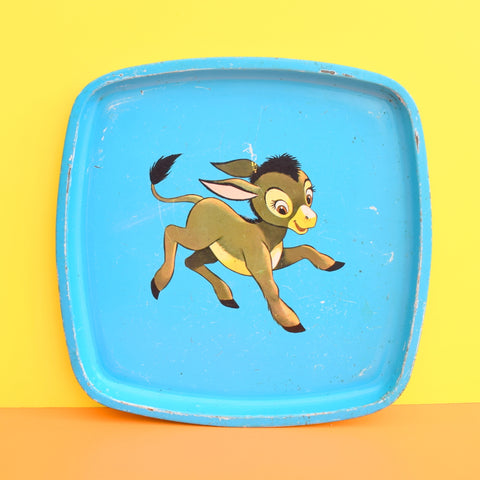 Vintage 1960s Disney Tin Tray - Manni The Donkey