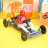Vintage 1980s Small Plastic Go Cart Toys - Lovely Detail & Boxes