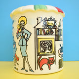 Vintage 1950s Ceramic Money Box - Lady & Period clothing / Homeware
