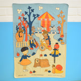 Vintage 1970s Magic Roundabout Tea Towel - Ideal To Frame