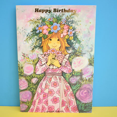 Vintage 1970s Greeting Card - by Gwyneth Mamlok - Lucy - Pink