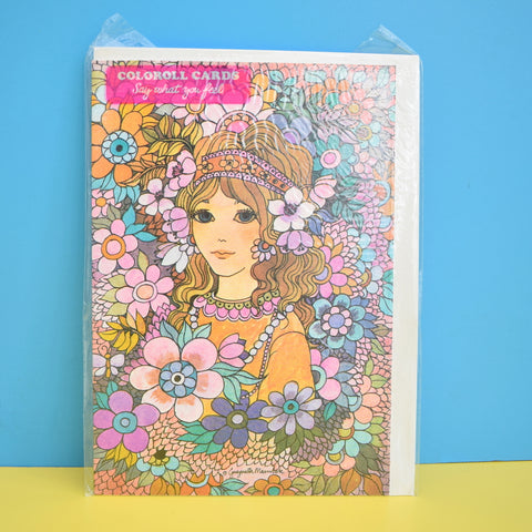 Vintage 1970s Greeting Card - by Gwyneth Mamlok - Tiffany Girl