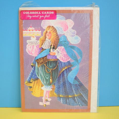 Vintage 1970s Greeting Card - by Paolo Romanelli - The Birthday Cake - Kitsch