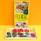 Vintage 1960s Floral Play Box - Plastic Flower Power Building Kit