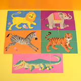 Vintage 1970s Zoo Card Game - Gorgeous Illustrations