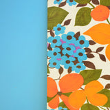 Vintage 1960s Flower Power Large Chopping Board - Orange & Blue