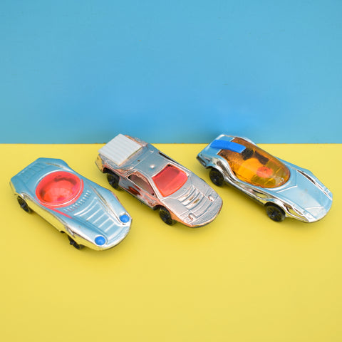 Vintage 1980s Small Plastic Car Toys - Lovely Detail & Packaging