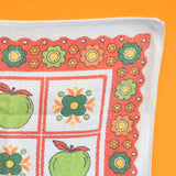 Vintage 1960s Tea Towel / Towel - Apple Print