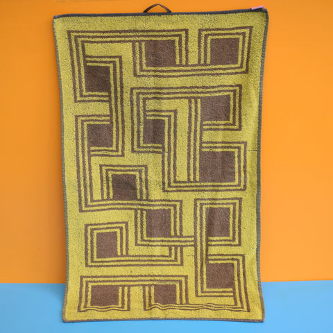 Vintage 1960s Unused Towel / Tea Towel - Geometric