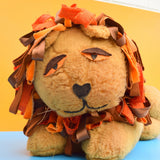 Vintage 1970s Large Fluffy Lion Toy - Handmade
