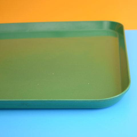 Vintage 1960s Quality Bandalasta Tray - Bottle Green