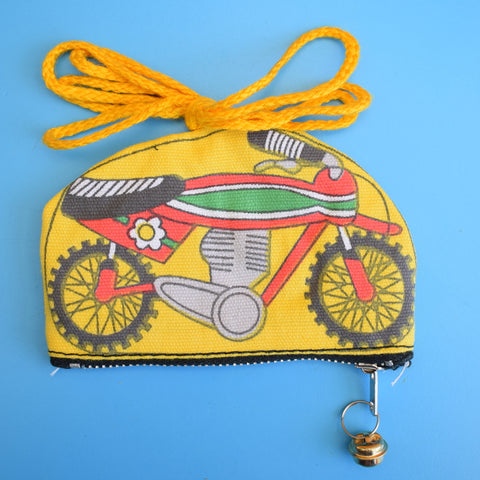 Vintage 1970s Mini Change Purse - Bike / Motorbike - Various Colours