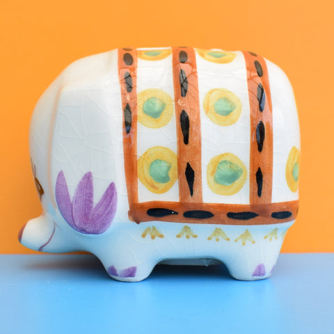 Vintage 1960s Mini Elephant Money Box