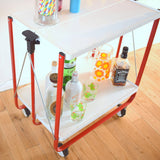 Vintage 1980s Folding Metal Trolley - Bar / Display / Party