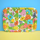 Vintage 1960s American Tin Tray - Flower Power - Gorgeous
