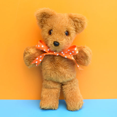 Vintage 1970s Cute Teddy Bear - Brown Fluffy