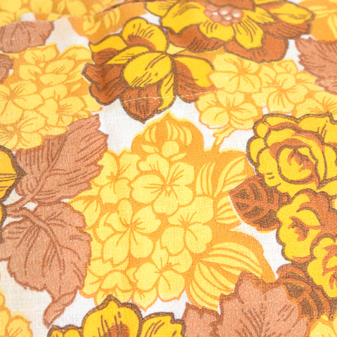 Vintage 1960s Camper or Caravan Curtains Flower Power,  Orange