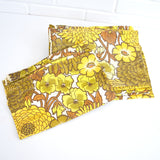 Vintage 1960s Camper or Caravan Curtains Flower Power,  Yellow