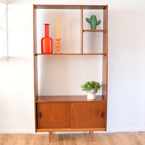Vintage 1960s Teak Room Divider - Double Sided