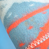 Vintage 1950s Wooly Blanket / Throw - Dutch - Blue / Red