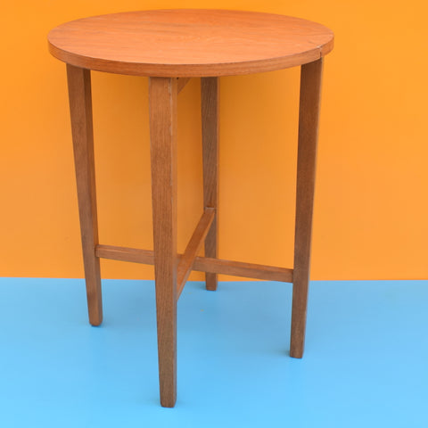 Vintage 1960s Handy Folding Side Table - Teak