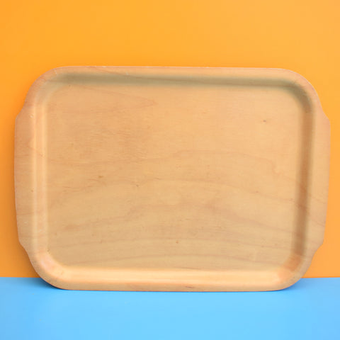 Vintage 1960s Danish Melamine / Plywood Tray