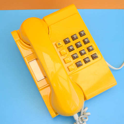 Vintage 1980s Ambassador Home Phone - Fully Working - Eggy Yellow
