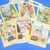 Vintage Ladybird Key Word Reading Scheme - Picture- Sentence Matching Cards