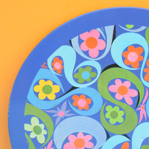 Vintage 1970s Metal Placemats - Flower Power - Ian Logan ?
