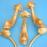 Vintage 1970s Lan Bar Fish Range Bathroom Bits - Kitsch Gold