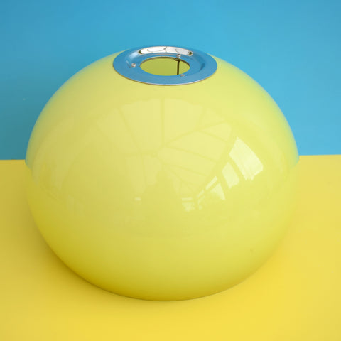 Vintage 1970s Mushroom Light Shade - Guzzini Style - Lime Green & Chrome