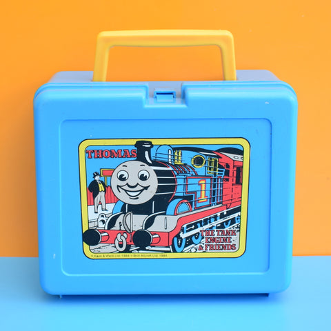 Vintage 1980s Plastic Bluebird Lunchbox - Thomas The Tank Engine - Blue