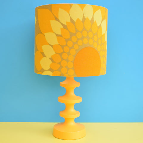 Vintage 1960s Swedish Lamp - Uno & Osten Kristiansson For Luxus - Orange & Yellow