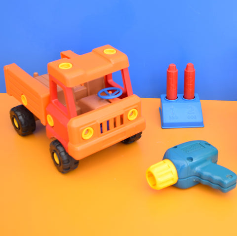 Vintage 1970s Matchbox Toy Drill, Truck & Plane Construction Set