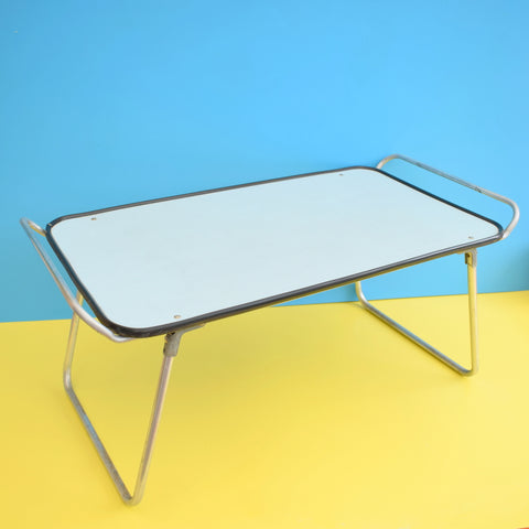 Vintage 1960s Folding Garden / Breakfast In Bed / Craft Table - Pale Blue