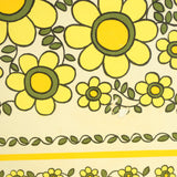 Vintage 1960s Flower Power Taunton Vale Tray - Yellow