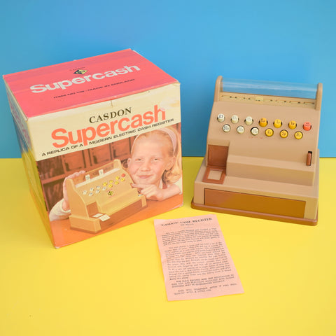 Vintage 1970s Casdon Supercash Play Till / Cash Register - Boxed