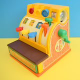 Vintage 1970s Fisher Price Play Till / Cash Register With Coins .