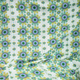 Vintage 1960s Curtains Flower Power,  Green, Blue & Purple