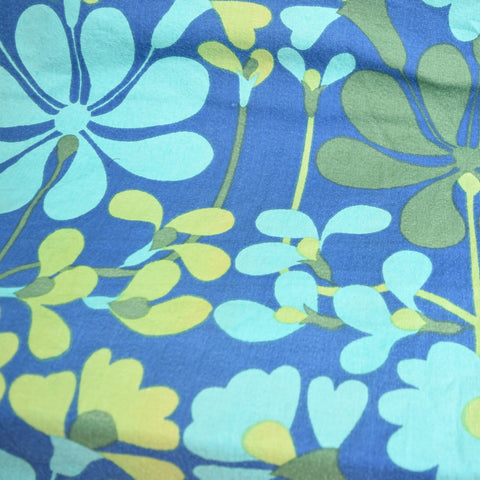 Vintage 1960s Fabric - Heals Florentina by Jyoti Bhomik, Green & Blue