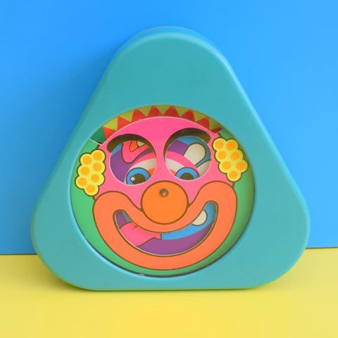 Vintage 1970s Mattel Spinning Clown Toy - American Market - Psychedelic Colours