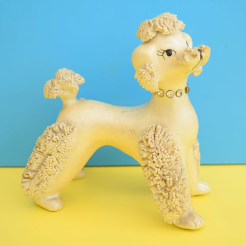 Vintage 1950s Pearlescent Spaghetti Poodle & Cat / Deer? - Foreign - Cream
