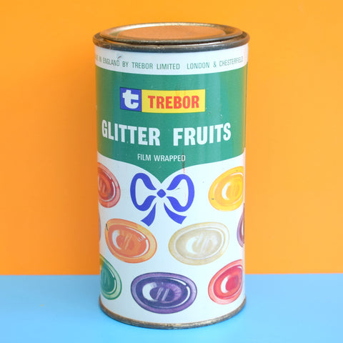 Vintage 1970s Trebor Glitter Fruits Tin- Advertising