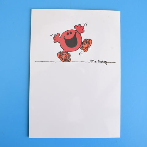 Vintage 1980s Greeting Card - Mr Men - Mr Clumsy / Mr Noisy